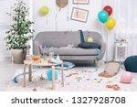 messy living room interior.... | Shutterstock . vector #1327928708