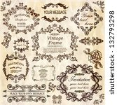 vector set  calligraphic design ... | Shutterstock .eps vector #132793298