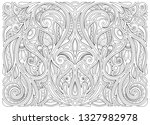 monochrome floral background in ... | Shutterstock .eps vector #1327982978