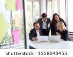 business people meeting team ... | Shutterstock . vector #1328043455
