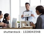 business executive delivering a ... | Shutterstock . vector #1328043548