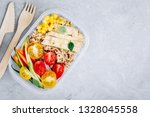 meal prep lunch box containers... | Shutterstock . vector #1328045558