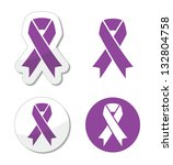 purple ribbon   pancreatic... | Shutterstock .eps vector #132804758