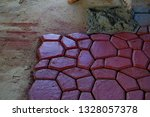 cobbles. stone road pattern.   Shutterstock . vector #1328057378