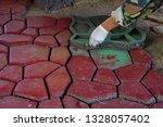 cobbles. stone road pattern.   Shutterstock . vector #1328057402