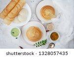 south indian breakfast meal... | Shutterstock . vector #1328057435