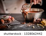 baker or chocolatier preparing... | Shutterstock . vector #1328062442