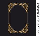 gold baroque ornament. retro... | Shutterstock .eps vector #1328078762
