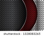 abstract red silver grey metal... | Shutterstock .eps vector #1328083265