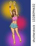 teen girl in mini skirt. woman... | Shutterstock .eps vector #1328094632