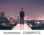 back view of businessman on... | Shutterstock . vector #1328095172