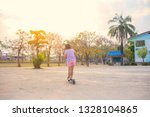 a cute little girl having fun... | Shutterstock . vector #1328104865