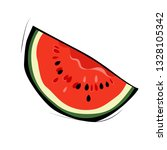 a piece of watermelon on a...   Shutterstock .eps vector #1328105342