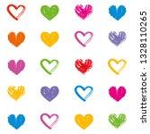 love theme hearts valentine's... | Shutterstock .eps vector #1328110265