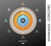 infographic template design | Shutterstock .eps vector #132811982