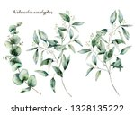 watercolor seeded and baby... | Shutterstock . vector #1328135222