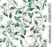 watercolor seeded eucalyptus... | Shutterstock . vector #1328139425
