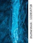 vertical glacier ice cave... | Shutterstock . vector #132814718