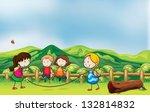 illustration of the kids... | Shutterstock . vector #132814832