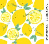 fresh lemons  leaves background.... | Shutterstock .eps vector #1328153972