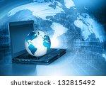 best internet concept of global ... | Shutterstock . vector #132815492