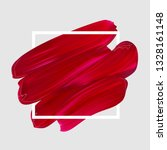 pink vector lipstick smear.... | Shutterstock .eps vector #1328161148