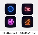neon glow lights. set of online ... | Shutterstock .eps vector #1328166155