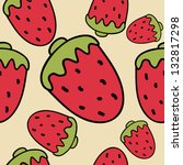strawberry texture  pattern | Shutterstock .eps vector #132817298