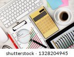 accounting. items for doing... | Shutterstock . vector #1328204945