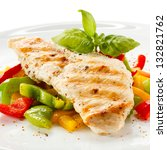 ������, ������: Grilled chicken breasts and