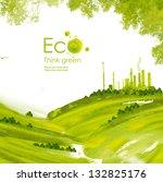 illustration environmentally... | Shutterstock . vector #132825176