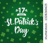 saint patrick's day greeting... | Shutterstock . vector #1328260625