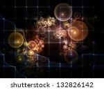 background design of fractal...   Shutterstock . vector #132826142