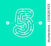 number five shape maze... | Shutterstock .eps vector #1328281925
