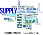 a word cloud of supply chain... | Shutterstock .eps vector #132829718
