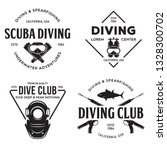 set of scuba diving club and... | Shutterstock .eps vector #1328300702