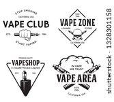 vape shop labels emblems badges ... | Shutterstock .eps vector #1328301158