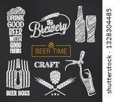 beer sketch vector set. beer... | Shutterstock .eps vector #1328304485