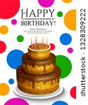 happy birthday greeting card.... | Shutterstock .eps vector #1328309222