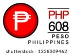 p  php  608  peso  philippines... | Shutterstock .eps vector #1328309462
