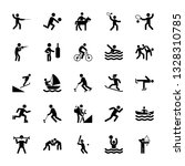 set of olympic games pictograms  | Shutterstock .eps vector #1328310785