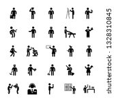 set of profession pictograms | Shutterstock .eps vector #1328310845