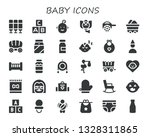 baby icon set. 30 filled baby... | Shutterstock .eps vector #1328311865