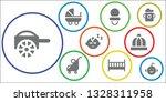 toddler icon set. 9 filled... | Shutterstock .eps vector #1328311958