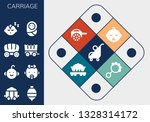 carriage icon set. 13 filled... | Shutterstock .eps vector #1328314172