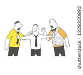 a man separates two men. two...   Shutterstock .eps vector #1328320892