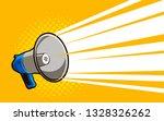 loudspeaker  megaphone.... | Shutterstock .eps vector #1328326262