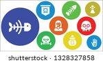 skeleton icon set. 9 filled...   Shutterstock .eps vector #1328327858