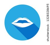 lips icon with long shadow....