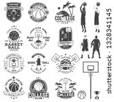 set of basketball college club... | Shutterstock .eps vector #1328341145